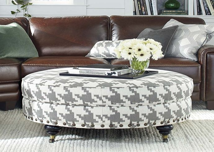 Wonderful Best Round Upholstered Coffee Tables Within Round Coffee Table With Ottomans Starrkingschool (Image 38 of 40)