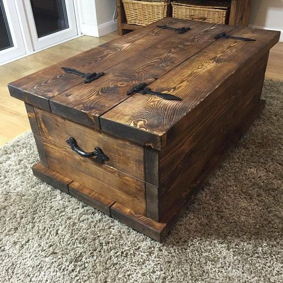 Wonderful Best Rustic Style Coffee Tables Within Best 25 Dark Wood Coffee Table Ideas On Pinterest Diy Coffee (View 9 of 50)