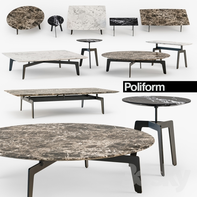 Wonderful Best Tribeca Coffee Tables Regarding 3d Models Table Poliform Tribeca Coffee Table Set (Image 49 of 50)