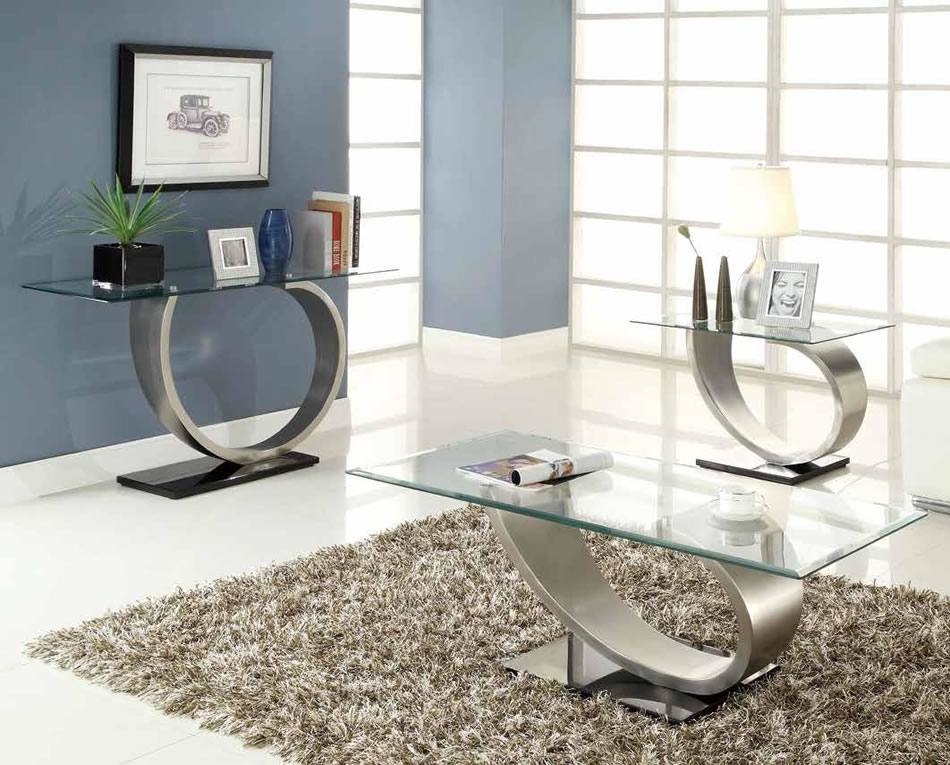 Wonderful Best Wayfair Coffee Table Sets With Regard To Glass Living Room Table Set Silver Glass Coffee Table Setpoundex (Image 45 of 50)