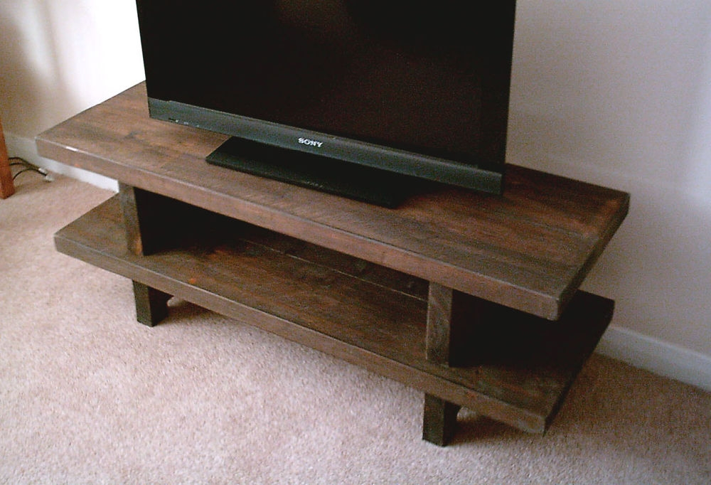 Wonderful Best Widescreen TV Stands With Hand Made Rustic Widescreen Tv Stand Solid Wood Stained In (Image 45 of 50)