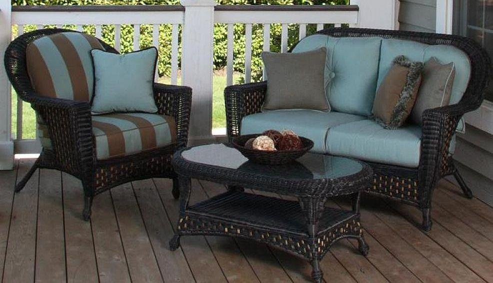Wonderful Black Wicker Outdoor Furniture | Furniture Design Ideas With Black Wicker Sofas (Image 20 of 20)