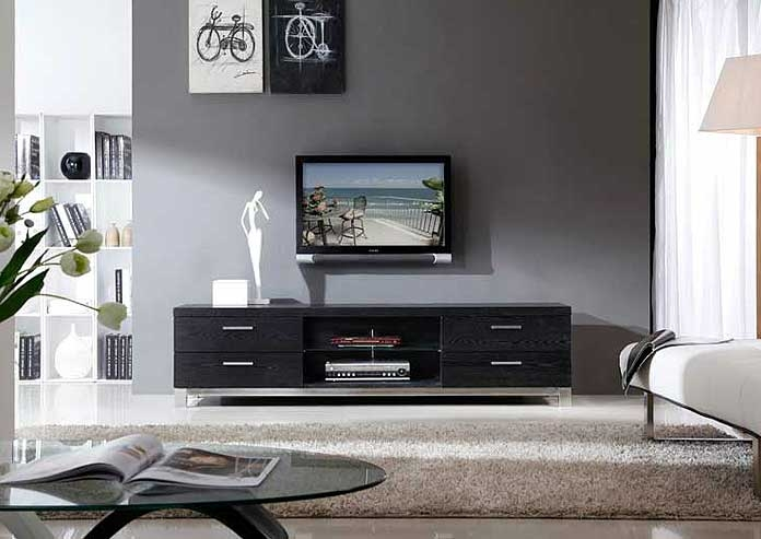 Wonderful Brand New Black TV Stands With Drawers Throughout Modern Black Tv Stand Bm3 Tv Stands (Image 48 of 50)