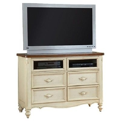 Wonderful Brand New Country TV Stands Pertaining To Multi Media Center French Country Coastal Cottage Chest Tv Stand (Image 44 of 50)