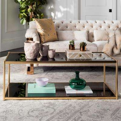 Wonderful Brand New Glass Gold Coffee Tables In Safavieh Gold Metallic Coffee Tables Accent Tables The (View 29 of 50)