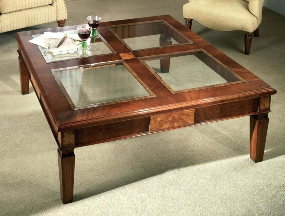Wonderful Brand New Glass Top Display Coffee Tables With Drawers Regarding Pottery Barn Glass Coffee Table Kiurtjohnsonco (Image 48 of 50)