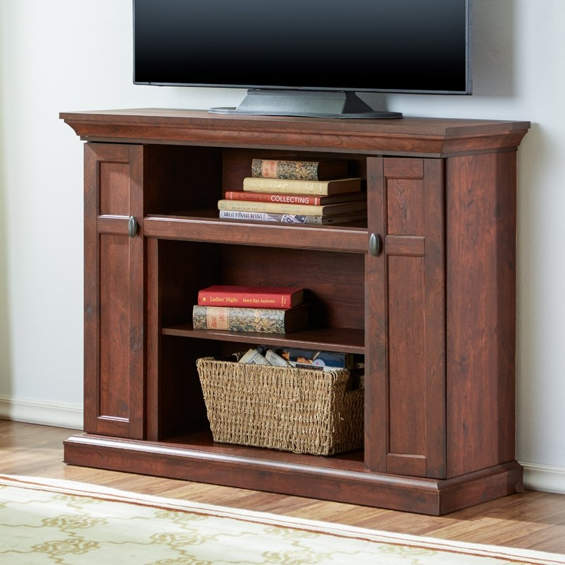 Wonderful Brand New Light Cherry TV Stands In Extra Tall Tv Stands Wayfair (Image 48 of 50)