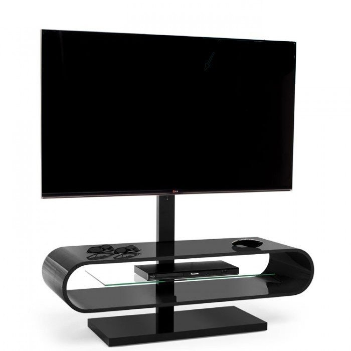 Wonderful Brand New Ovid TV Stands Black Pertaining To Techlink Ovid Ov95b Gloss Black Tv Stand  (Image 48 of 50)