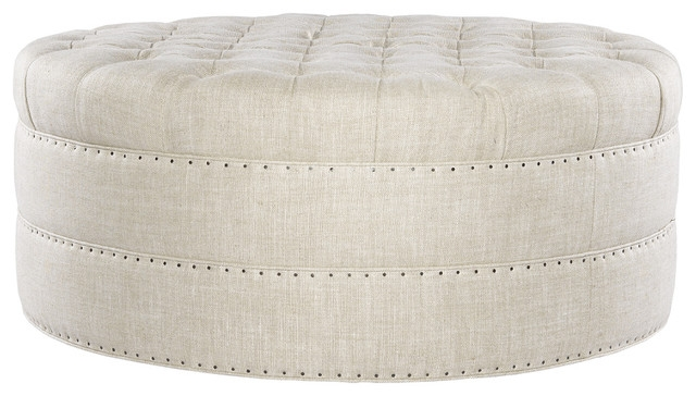 Wonderful Brand New Round Upholstered Coffee Tables Throughout Fancy Round Fabric Ottoman Best 10 Design Tufted Round Coffee (Image 39 of 40)
