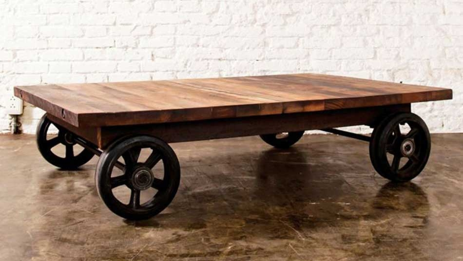 Wonderful Brand New Rustic Coffee Table With Wheels Intended For Coffee Table With Wheels For Practical Movement Exist Decor Coffee (Image 47 of 50)