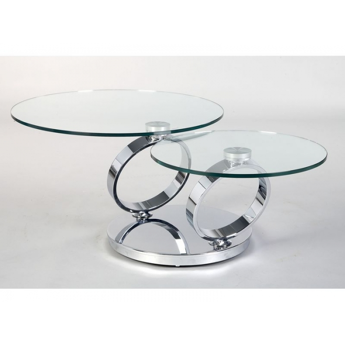 Wonderful Brand New Swivel Coffee Tables Intended For Coffee Table Glass Swivel Coffee Table Clear Glass Has A Light (View 4 of 50)