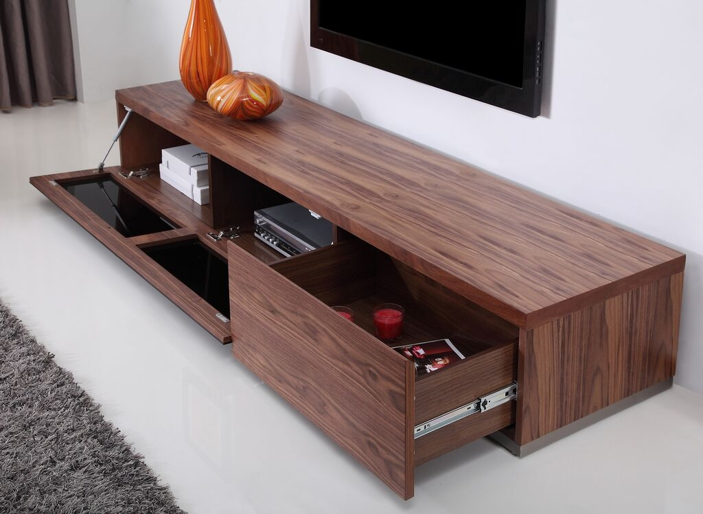 Wonderful Brand New Walnut TV Stands Inside Producer Tv Stand Light Walnut B Modern Modern Manhattan (View 3 of 50)