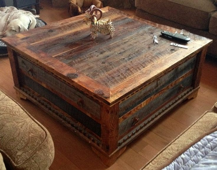 Wonderful Brand New Wooden Trunks Coffee Tables Regarding Best 25 Trunk Coffee Tables Ideas On Pinterest Wood Stumps (View 10 of 40)