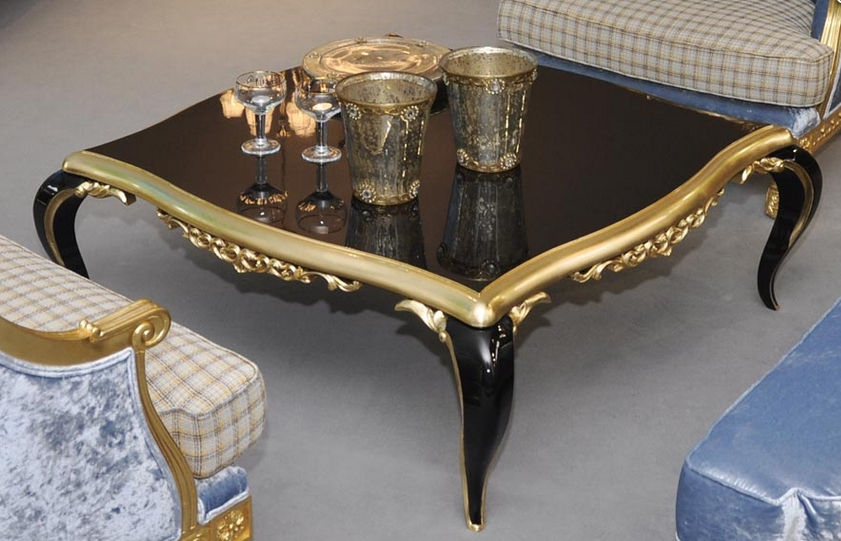 Wonderful Common Baroque Coffee Tables With New Baroque Design Coffee Table Glass Square Capri (View 11 of 50)