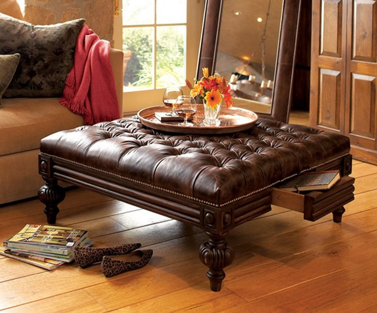 Wonderful Common Brown Leather Ottoman Coffee Tables With Storages Regarding 11 Best Ottomans Different Styles Images On Pinterest Ottoman (Image 38 of 40)