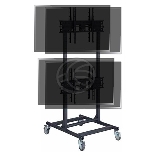 Wonderful Common Dual TV Stands Throughout Tv Stand For 2×2 Vertical Screens 32 56 Dual Vesa 600×400 Mm (Image 49 of 50)