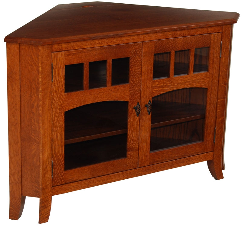 Wonderful Common TV Cabinets Corner Units In Amish Lancaster Mission Tv Stand No Drawers Tv Stands (Image 47 of 50)