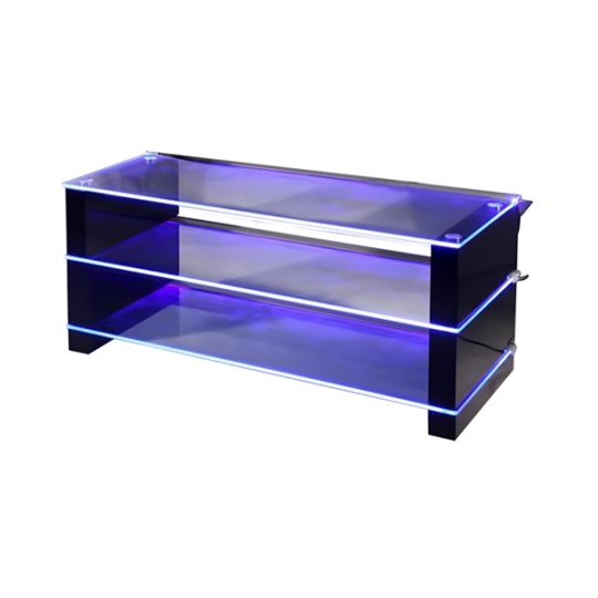 Wonderful Common TV Stands With LED Lights Throughout Led Light Black Tv Stand Dml100 Tv Stands Black Big Av Contemporary (Image 45 of 50)