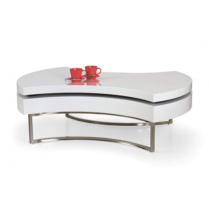 Wonderful Common White High Gloss Coffee Tables Pertaining To Aurora Designer Coffee Table In White High Gloss (View 44 of 50)