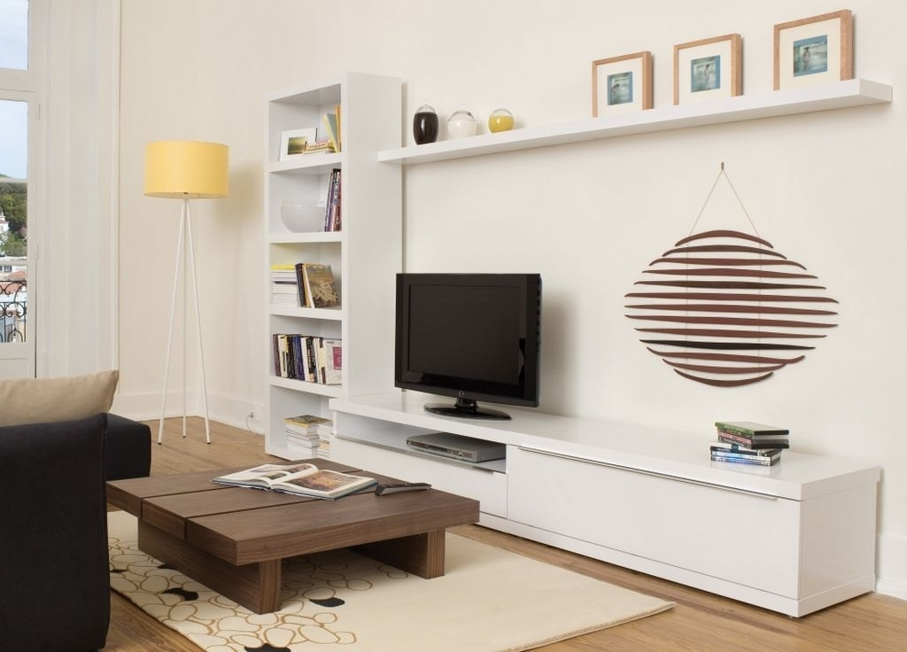 Wonderful Common White Wall Mounted TV Stands In White And Wood Modern Tv Stand Designs Nytexas (Image 47 of 50)