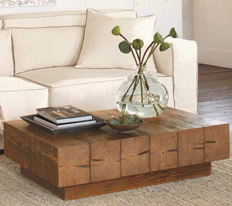 Wonderful Deluxe Chunky Wood Coffee Tables Pertaining To Chunky Timber Coffee Table So Thats Cool (Image 49 of 50)