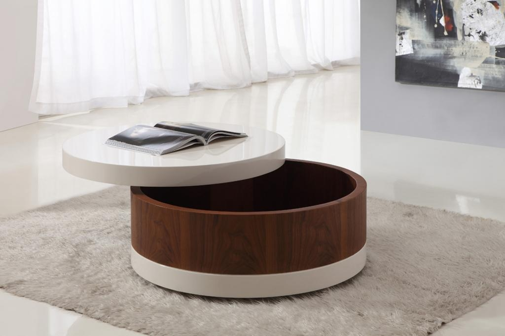 Wonderful Deluxe Circular Coffee Tables With Storage For Round Coffee Table With Storage (Image 44 of 50)