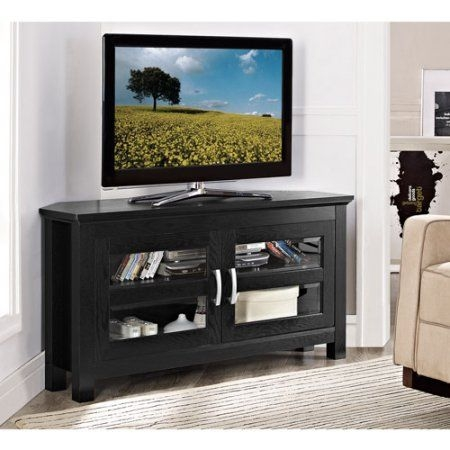 Wonderful Deluxe Corner 60 Inch TV Stands With Best 25 Black Corner Tv Stand Ideas On Pinterest Small Corner (Image 46 of 50)