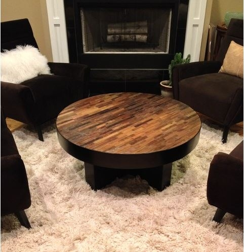 Wonderful Deluxe Dark Wood Round Coffee Tables For Living Room Top Round Rustic Coffee Tables Youtube For Table Plan (View 44 of 50)