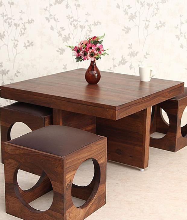 Wonderful Deluxe Ethnic Coffee Tables Intended For Great Solid Wood Coffee Table (Image 44 of 50)
