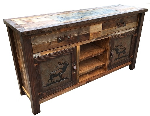 Wonderful Deluxe Long Wood TV Stands With Regard To Bradleys Furniture Etc Rustic Tv Stands (Image 49 of 50)