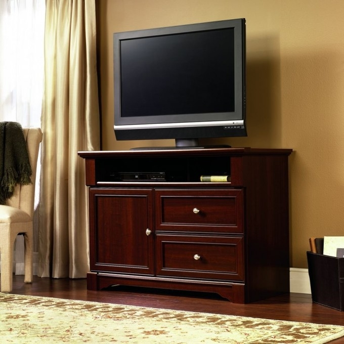 Wonderful Deluxe Mahogany TV Stands Furniture Regarding Furniture Furniture Best Sauder Tv Stand For Your Family Room (Image 45 of 50)