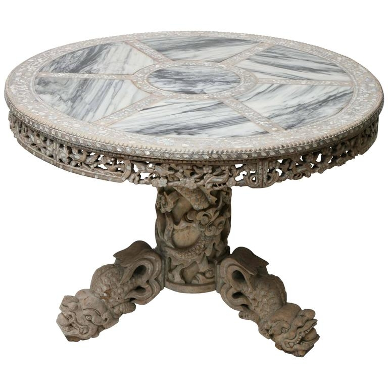 Wonderful Deluxe Mother Of Pearl Coffee Tables Throughout Finely Carved Chinese Center Table With Mother Of Pearl Inlays And (Image 44 of 50)