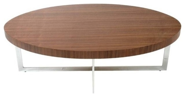 Wonderful Deluxe Oval Walnut Coffee Tables Throughout Oval Shaped Coffee Table Idi Design (Image 45 of 50)