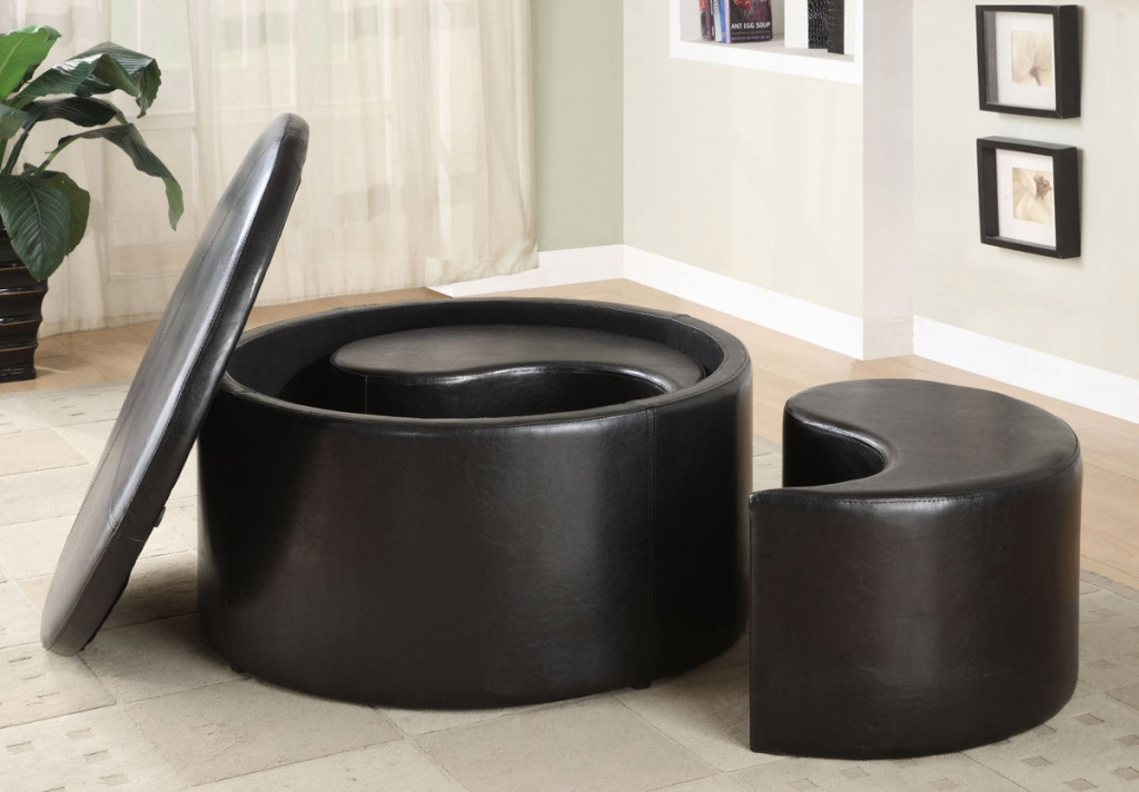 Wonderful Deluxe Round Storage Coffee Tables Within Magnificent Round Storage Coffee Table Ideas (View 25 of 50)