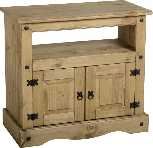 Wonderful Deluxe Rustic Pine TV Cabinets Within Corona Tv Stand Living Room Furniture Solid Wood Mexican Pine (Image 50 of 50)