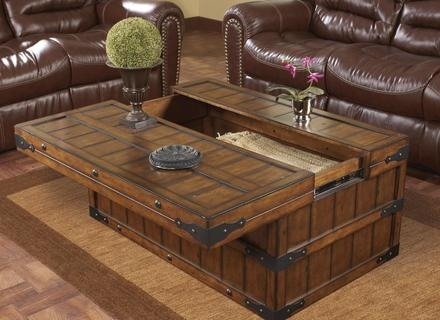 Wonderful Deluxe Square Chest Coffee Tables Pertaining To Coffee Table Chest Trunk Jerichomafjarproject (View 7 of 50)