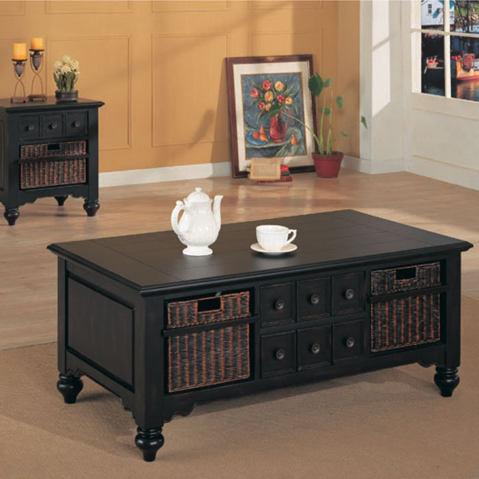 Wonderful Deluxe Storage Coffee Tables Inside Exellent Black Coffee Table With Storage I Decorating Ideas (View 34 of 50)