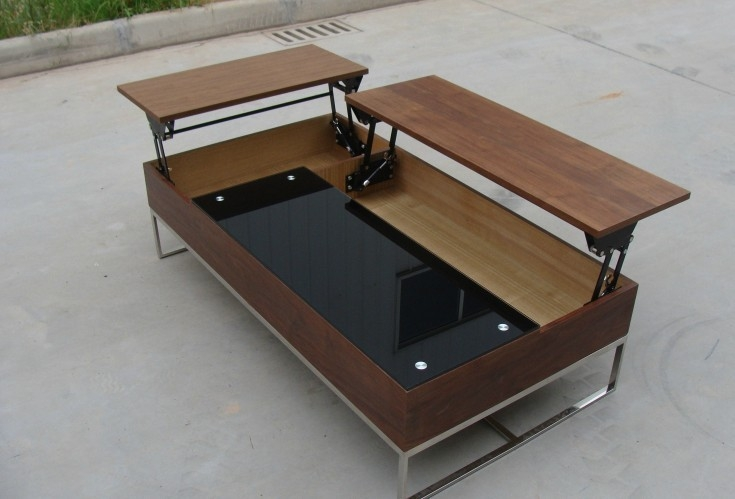 Wonderful Deluxe Swing Up Coffee Tables Within Coffee Table Hinges Images Industrial Coffee Table With Usable (Image 35 of 40)