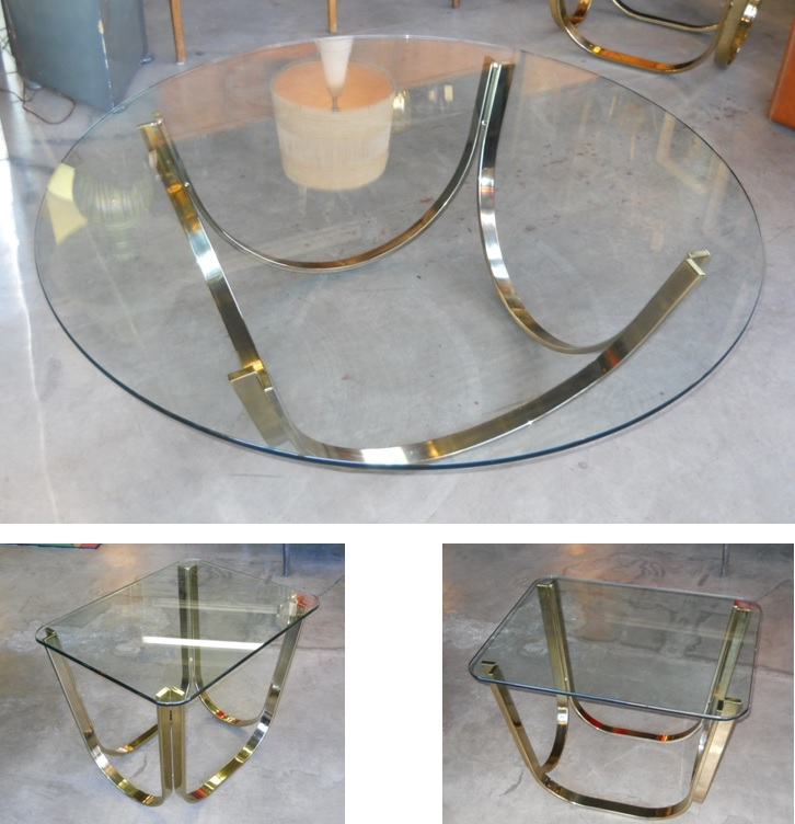 Wonderful Deluxe Vintage Glass Top Coffee Tables Regarding Retro Vegas Tables Sold My Site (View 35 of 50)