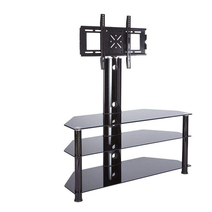Wonderful Deluxe White Cantilever TV Stands Inside Best 25 Black Glass Tv Stand Ideas On Pinterest Penthouse Tv (Image 46 of 50)