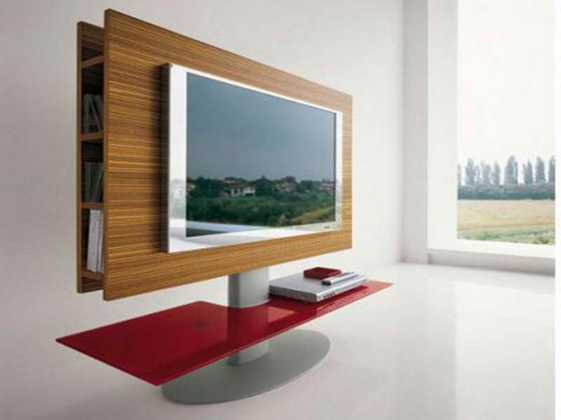 Wonderful Deluxe Wood TV Stands With Swivel Mount Regarding Tv Stands Outstanding Swivel Tv Stands For Flat Screens  (Image 46 of 50)