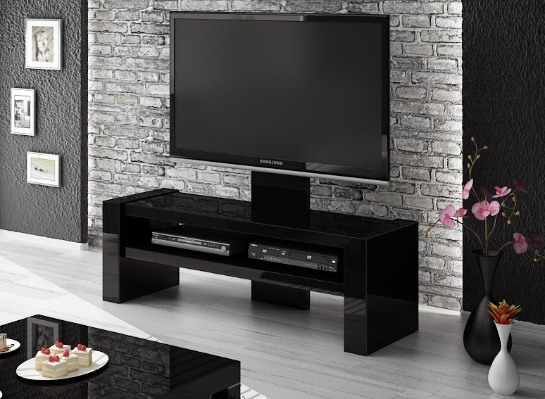 Wonderful Elite Black TV Stands Intended For Davos Black Tv Stand (Image 42 of 50)