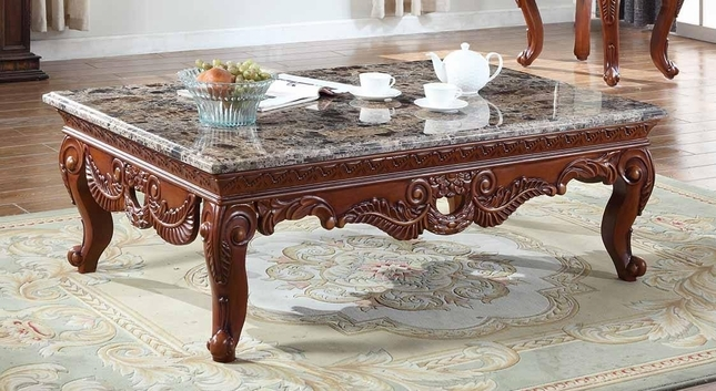 Wonderful Elite Bordeaux Coffee Tables With Regard To Marble Coffee Table With Hand Carved Design (View 5 of 50)