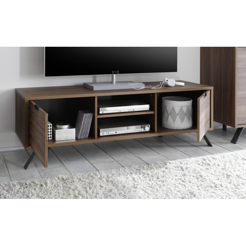 Wonderful Elite Dark Walnut TV Stands Pertaining To Parma Dark Walnut Tv Stand Tv Stands Sena Home Furniture (Image 46 of 50)
