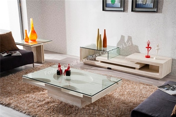Wonderful Elite Glass And Stone Coffee Table With Interior Stone Page2 Foshan Carolf Furniture Company Ltd (Image 46 of 50)
