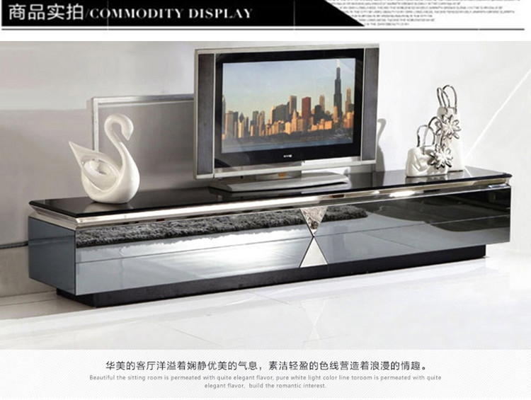 Wonderful Elite Glass TV Cabinets In Minimalist Modern Glass Tv Cabinet Tv Cabinet Stainless Steel (Image 46 of 50)