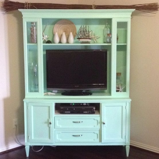 Wonderful Elite Green TV Stands Within 58 Best Furniture Painted Tv Stands And Media Cabinets Images On (Image 45 of 50)