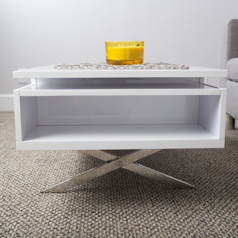 Wonderful Elite Large Low Level Coffee Tables For White Coffee Tables Youll Love Wayfair (View 45 of 50)