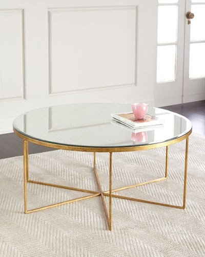 Wonderful Elite Oval Mirrored Coffee Tables Pertaining To Imported Mirrored Coffee Table Neiman Marcus (View 41 of 50)