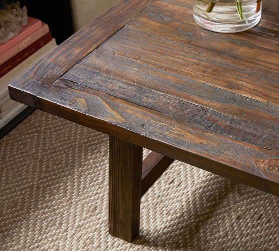 Wonderful Elite Pine Coffee Tables Throughout Bartol Reclaimed Pine Coffee Table Pottery Barn (View 23 of 50)
